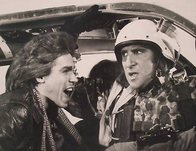 "Jeff Conaway and Judd Hirsch in ""Taxi"""