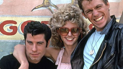 "John Travolta, Olivia Newton-John and Jeff Conaway in ""Grease"""