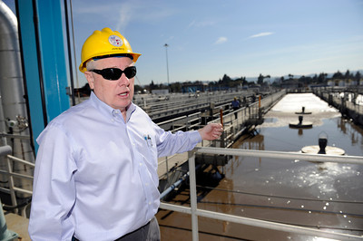 Los Angeles Department of Public Works Environmental Engineer John Mays at the Tillman Water Reclamation Plant in Van Nuys. (Hans Gutknecht/Staff Photographer