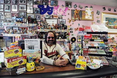 Dave Levy owner of Big Kid Collectable Toy Mall and Retro Store in Sherman Oaks, CA. (Hans Gutknceht/Staff Photographer)