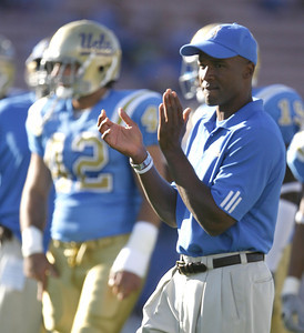 UCLA's Karl Dorrell reacts during the pregame warmups on Saturday, Oct. 6, 2007 at Rose Bowl. (Edna T. Simpson)