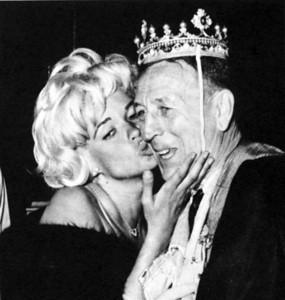 John Wooden and Jayne Mansfield from the UCLA 1965 Southern Campus Yearbook.(Daily News File Photo)