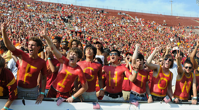 USC defeated the Utah Utes 23 to 14 in a game played at the Coliseum in Los Angeles CA. 9-10-2011. (John McCoy/Staff Photographer)