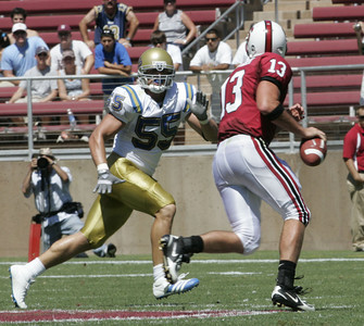 Ucla Korey Bosworth looks to tackle Stanford  T.C.  Ostrancder during the game on Saturday, September 1st, 2007  (Edna T. Simpson)