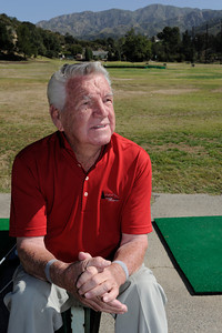 Dick Saatzer was a former Manager of the Verdugo Hills Golf Course, now he spends a lot of time playing and practicing on the driving range. Discussions are being held with various government entities about the possibility of purchasing the Verdugo Hills Golf Course in Tujunga and the Weddington Golf Course in Studio City, by using potential revenue from bonds, or other funding. Tujunga, CA 5-27-2011. (John McCoy/Staff Photographer)