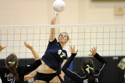 West Ranch's Angelica Rutledge during their match against Valencia at West Ranch High School in Stevenson Ranch, CA Thursday, November 4, 2010. (Hans Gutknecht/Staff Photographer)