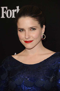 Actress Sophia Bush wears Brumani Baobab earrings in 18K yellow gold with brown diamonds, aquamarine, ruby and pink tourmaline to the Hollywood Domino Gala & Tournament at the Sunset Tower Hotel on Feb. 23, 2012.