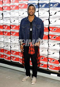 Musician Austin Brown wears Converse at the opening of the Converse West Coast Flagship in Santa Monica on Feb. 15, 2012.