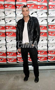 Actor Mark Salling wears Converse at the opening of the Converse West Coast Flagship in Santa Monica on Feb. 15, 2012.