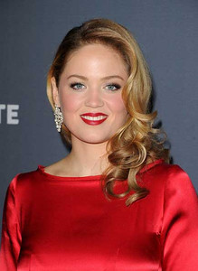 Actress Erika Christensen wears Diamond in the Rough earrings in 18K white gold with rough diamonds and micro pave diamond accents and an 18K white gold ring with rough diamonds and micro pave diamond accents to the Costume Designers Guild Awards with at the Beverly Hilton Hotel on Feb. 21, 2012.