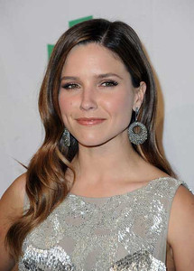 Actress Sophia Bush wears Amrapali 14K white gold earrings with diamonds and cat's eye to the Global Green USA's pre-Oscar party at Avalon in Hollywood on Feb. 22, 2012.