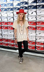 Actress Gillian Zinser wears Converse at the opening of the Converse West Coast Flagship in Santa Monica on Feb. 15, 2012.