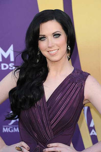 Singer Shawna Thompson wears Amrapali smoky quartz and diamond drop earrings at the Academy of Country Music Awards at the MGM Grand in Las Vegas on April 1, 2012.