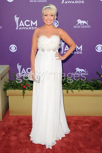 Singer Meghan Linsey carries Swarovski's silver crystal My Bag clutch at the Academy of Country Music Awards at the MGM Grand in Las Vegas on April 1, 2012.