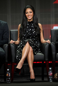 """Nicole Scherzinger wears a Misaki Jaguar Collection sterling silver bracelet at """"The X Factor"""" panel during Fox's 2011 summer TCA tour at the Beverly Hilton Hotel on Aug. 5, 2011."""
