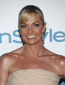 Actress Jaime Pressly wears Sutra 18K four-tier natural brown rough cut diamond earrings to the InStyle Summer Soiree at the London Hotel in West Hollywood on Aug. 10, 2011.