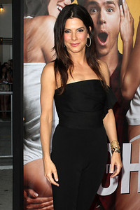"""Actress Sandra Bullock wears an Adeler 18K gold handmade chain link bracelet to the premiere of """"The Change-Up"""" at the Regency Village Theatre on Aug. 1, 2011."""