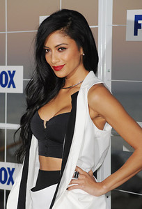 Nicole Scherzinger wears an M.C.L. by Matthew Campbell Laurenza pave spaceship ring to the 2011 Fox All Star Party at Gladstone's in Malibu on Aug. 5, 2011.