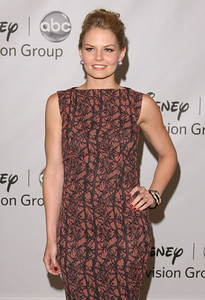 Actress Jennifer Morrison wears M.C.L. by Matthew Campbell Laurenza large pave full ball stud earrings and a coral reef cuff to Disney ABC Television Group's summer press tour at the Beverly Hilton Hotel on Aug. 7, 2011.