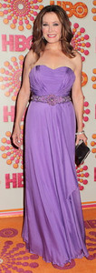 Actress Mary McDonnell wears a Cengiz Abazoglu gown to the HBO Emmy After Party at the Pacific Design Center on Sept. 18, 2011.