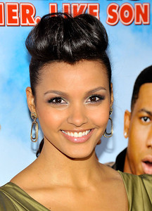 "Actress Jessica Lucas wears Le Vian yellow gold chocolate diamond earrings to a screening of ""Big Mommas: Like Father, Like Son"" on Feb. 10, 2011 in Hollywood."
