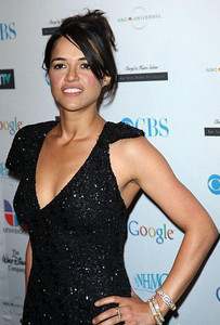 Actress Michelle Rodriguez wears an assortment of Vahan gold and sterling silver diamond bracelets with a matching diamond ring to the 14th Annual NHMC Impact Awards at the Beverly Wilshire Hotel on Feb. 25, 2011.