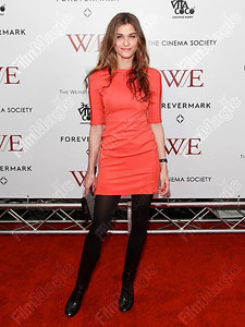 "Elisa Sednaoui wears a Resort Look #15 Oka  dress in Tang by Diane von Furstenberg to a screening of ""W.E."" in New York City on Jan. 23, 2012."