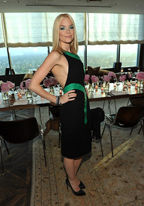 """Actress Jaime King wears Hellmuth black diamond stackable rings and M.C.L. by Matthew Campbell Laurenza  bangles in vined pave dome, large pave leaves and stardust curve pave to """"InStyle's Dinner With a Designer"""" for Rachel Zoe at SoHo House in West Hollywood on June 21, 2011."""