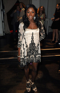 """""""True Blood"""" star Rutina Wesley wears Amrapali black and white agate earrings with diamonds and an Amrapali silver and gold diamond bracelet to the premiere of Season 4 at ArcLight Cinemas Cinerama Dome on June 21, 2011."""
