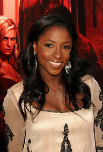 """""""True Blood"""" star Rutina Wesley wears Amrapali black and white agate earrings with diamonds to the premiere of Season 4 at ArcLight Cinemas Cinerama Dome on June 21, 2011."""