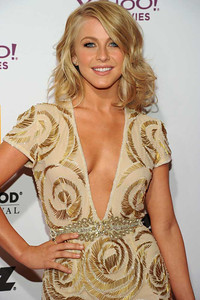 Julianne Hough wears Diamond in the Rough 18K yellow gold studs and a Diamond in the Rough Covet Bridal Collection ring to the Hollywood Film Awards Gala at the Beverly Hilton Hotel on Oct. 24, 2011.