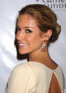 Kristin Cavallari wears Adeler rutilated quartz drop earrings to the Chinese Laundry party at the Redbury Hotel in Hollywood on Oct. 17, 2011.