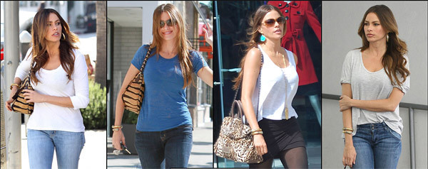 Actress Sofia Vergara has been spotted wearing an Amrapali 18K gold snake bracelet with diamonds and turquoise in Los Angeles.