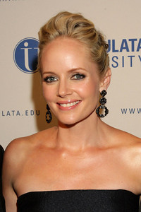 """Marley Shelton wears M.C.L by Matthew Campbell Laurenza jewelry pave four petal flower with windmill drop earrings to """"The Mighty Macs"""" premiere and Philadelphia Style magazine event on Oct. 14, 2011."""