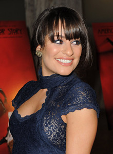 """Actress Lea Michele wears Amrapali 14K gold and diamond earrings to the premiere of """"American Horror Story"""" ArcLight Cinerama Dome on Oct. 3, 2011."""