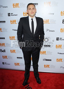 "Actor Jonah Hill wears a black Dior Homme wool suit to the Toronto Film Festival premiere of ""Moneyball"" on Sept. 9, 2011."