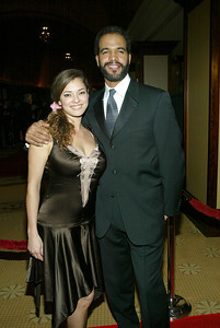 BEVERLY HILLS, CA - FEBRUARY 7:  Actor Kristoff St. John and guest attend the 56th Annual DGA Awards on February 7, 2004 at the Century Plaza Hotel, in Beverly Hills, California. (Photo by Frederick M. Brown/Getty Images)
