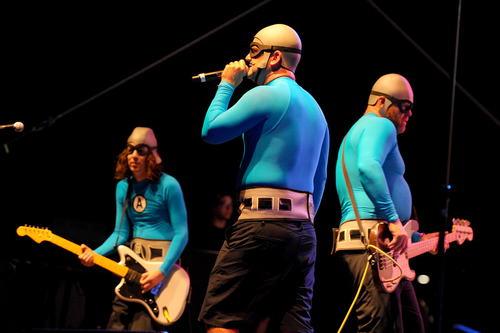 . The Aquabats perform at Festival Supreme. (Photo by Michael Owen Baker/Los Angeles Daily News)