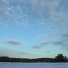 Afternoon sky over Powow River, Kingston, NH.<br /> January 11, 2010