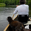 Emma takes in the sights as we paddle the Merrimack... June 25, 2011.