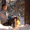 "In the woods near home at ""Golden Hour""... January 13, 2011"