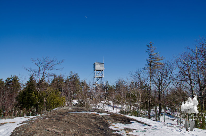 Moonrise over Pawtuckaway Fire-tower... February 18, 2013.