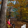In the golden wood with Preston and Shasta…. October 29, 2013.