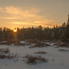 Out snowshoeing- sunset from the bog… February 7, 2014.