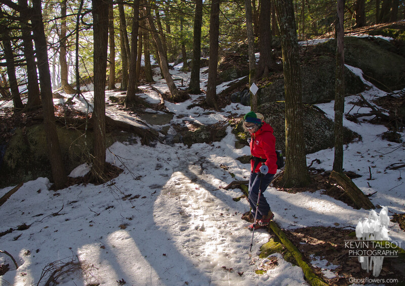 Treacherous trails in Pawtuckaway today… January 9, 2014.