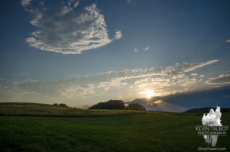 Sunset at Woodsom Farm, Amesbury, Massachusetts… July 9, 2014.
