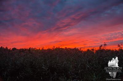 Sunset tonight from the marsh… October 1, 2015.