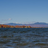 Today  looking north from the sandbar on Ossipee Lake- Passaconaway, Paugus and Chocorua... October 19, 2016.