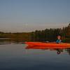 Sunset/moonrise paddle on the Powow tonight… May 20, 2016.