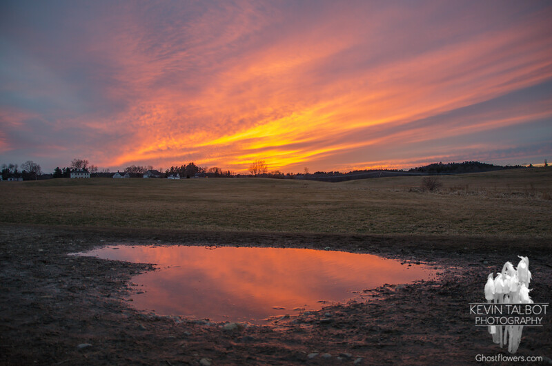 I heart sunsets at Woodsom Farm… Febrary 1, 2016.
